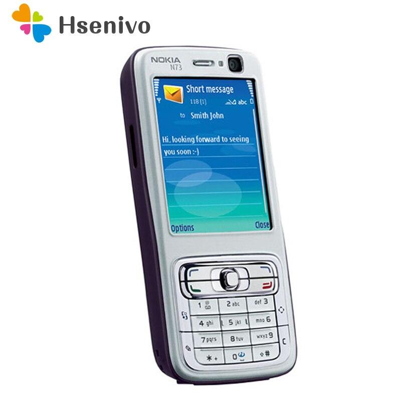 Remodelado Original Nokia N73 Móvel Celular GSM Desbloqueado Teclado Russo Inglês Árabe