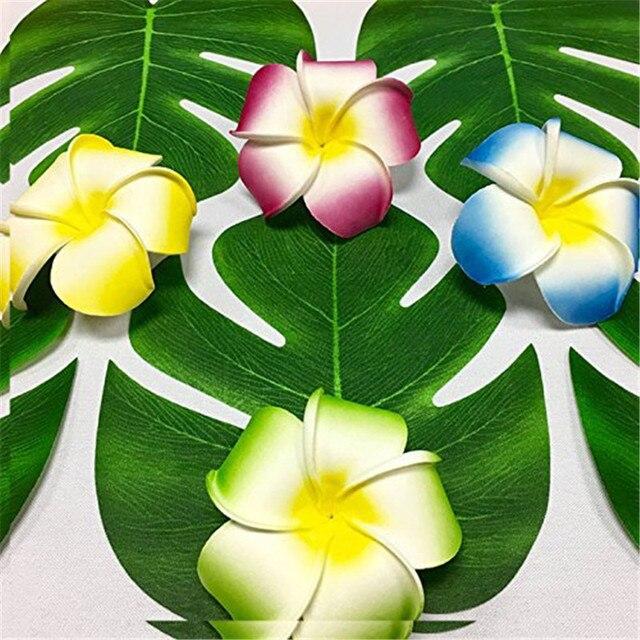 12 Pcs Lot 20 18 Cm Fleur Artificielle Feuilles De Palmier Tropical