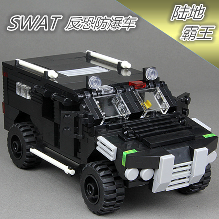 MOC Anti Riot Vehicle Cougar Resistant Protected SWAT Police Falcon Commandos Marine Building Blocks Toys -NOT INCLUDE MINIFIG цена 2017
