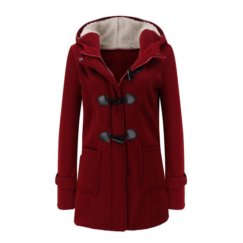 Laamei Women   Basic     Jacket   2018 Causal Coat Spring Autumn Women's Overcoat Zipper Horn Button Outwear   Jacket   Female Hooded Coat