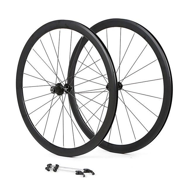 700c Bicycle Wheelset Aluminum Alloy Road Bike 2 Sealed Bearing 40mm