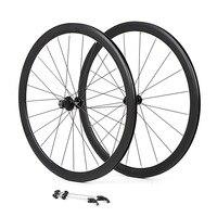 700C bicycle wheelset aluminum alloy road bike 2 sealed bearing 40mm rims broken wind wheels bike parts
