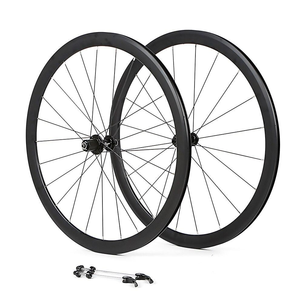 700C vélo paire de roues en alliage d'aluminium vélo de route 2 roulement scellé jantes 40mm roues de vent cassé pièces de vélo