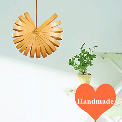 Countryside ceative Ply-Wood chips art Chandelier handmade E27 LED lamp indoor lighting for porch&stairs&cafe&corridor BT102-450