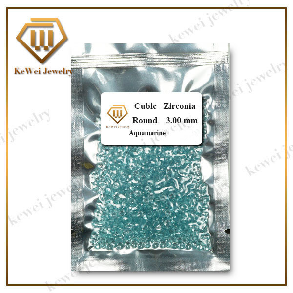 Light Aquamarine Blue CZ Stone AAAAA 1.0mm-5mm Light Blue Cubic Zirconia Stone Synthetic Gemstone