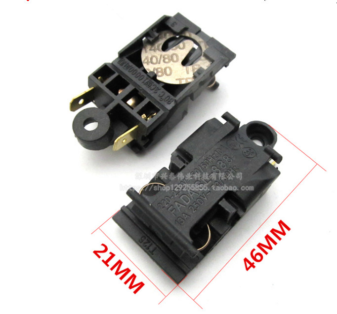 2PCS/LOT   13A 250V steam kettle thermostat switch FADA SL-888 TM-XE-3   21MM*46MM