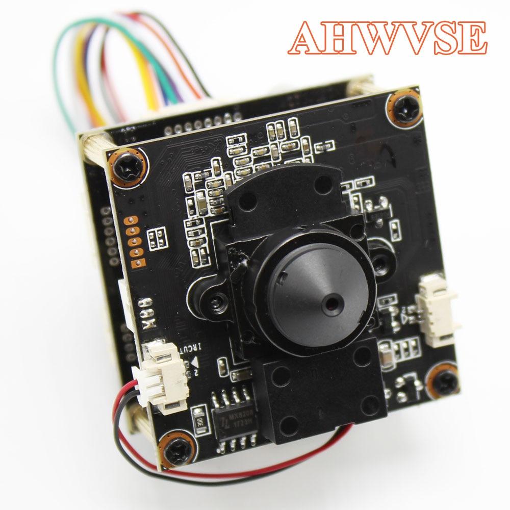 AHWVE Mini POE IP Camera Module Board With IRCUT DIY CCTV Camera For Dome Bullet Camera 1080P 2MP Mobile APP XMEYE 3.7mm Lens