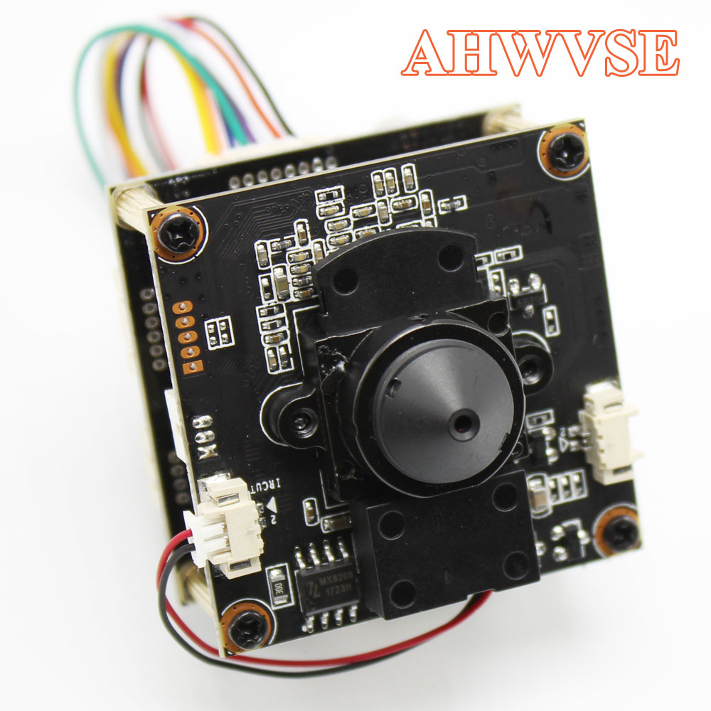 AHWVE Mini POE IP Camera module Board with IRCUT DIY CCTV Camera For Dome Bullet Camera 1080P 2MP Mobile APP XMEYE 3.7mm Lens