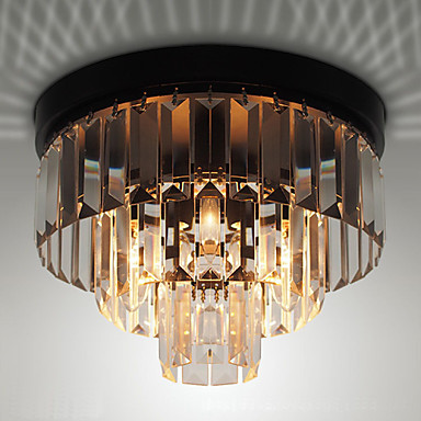 American Flush Vintage LED ceiling Light home Lighting Living Room Lights Crystal Ceiling Lamp Plafonnier Lustres De Cristal