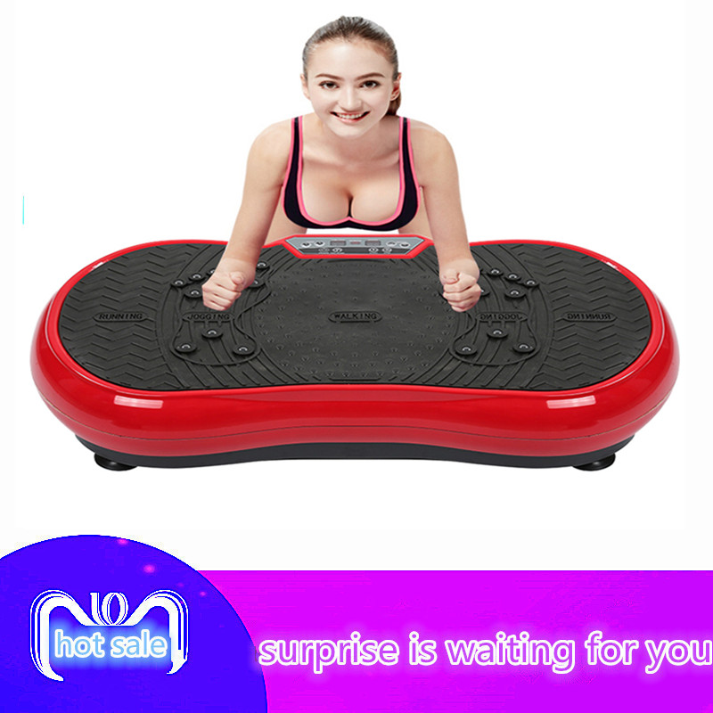 Upgraded version of ultra-thin massage vibration board weight loss machine fat burning home gym exercise fitness equipment HWC