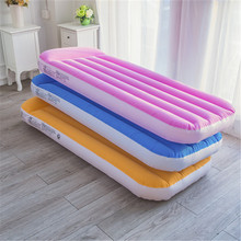 Flocking PVC Adult Children Inflatable Sofa Bed Pull Out Lounge Furniture Thickening Folding Air Couch Camping Hiking Outdoor