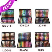 120 цвета красоты женщины палитры теней для макияжа комплект нейтральный и мерцание матовая косметические тени для век