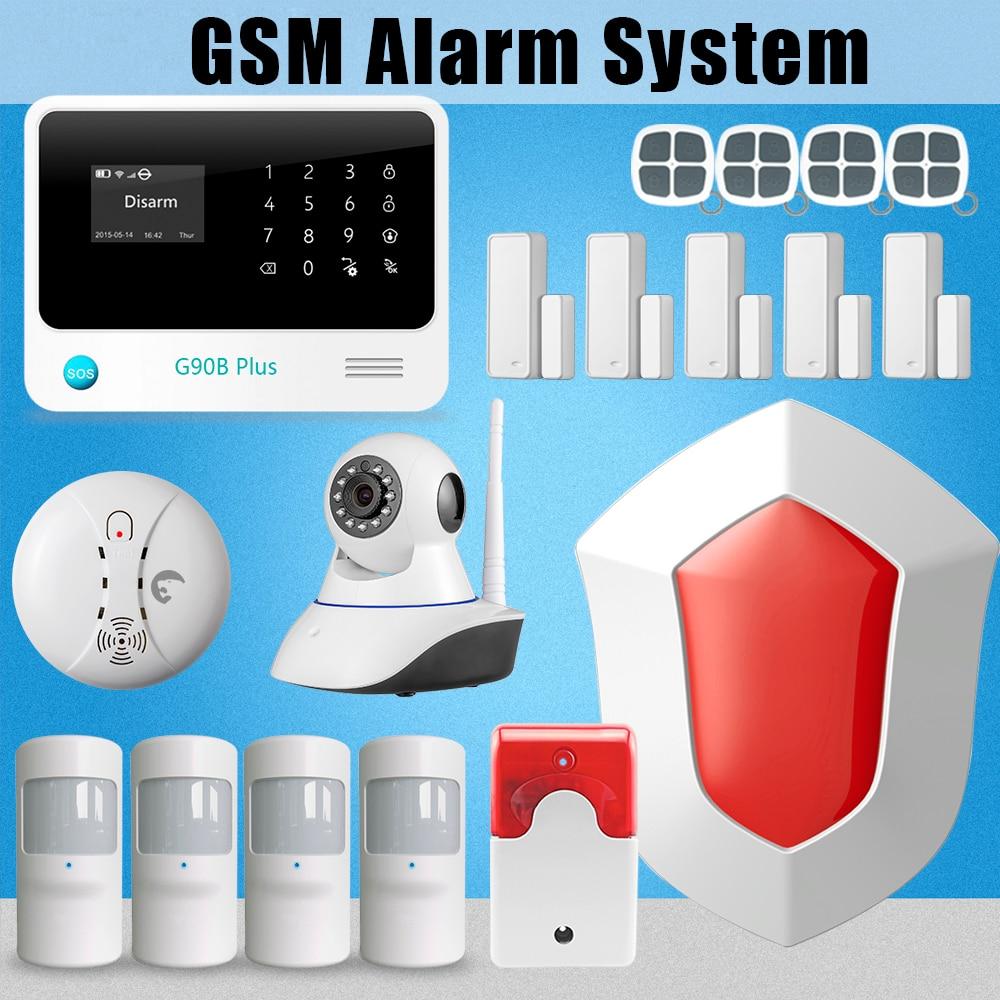 Etiger G90B Plus WiFi GSM SMS GPRS Autodi Alarm System Intruder Burglar+ WIFI IP Camera etiger solar flash siren wifi gsm newest intruder burglar gsm sms alarm alarm system ip camera 12 door sensor