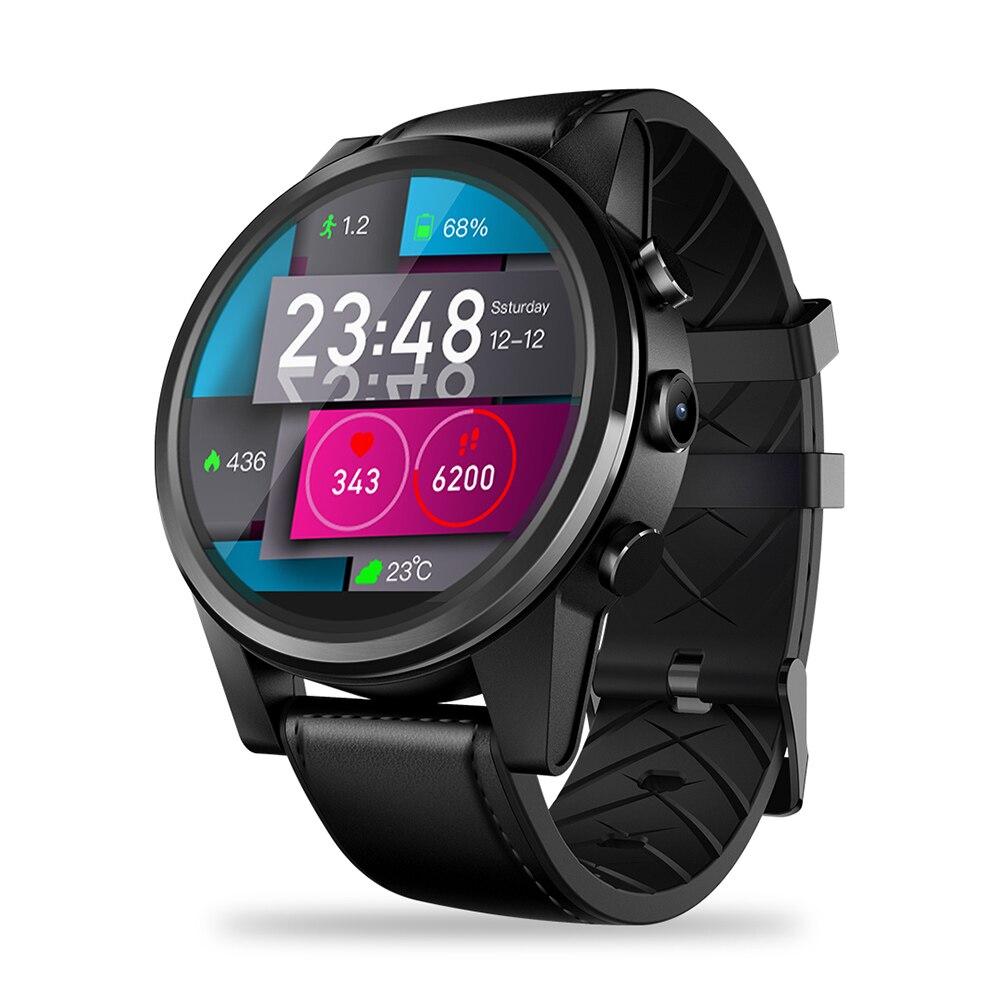 Zeblaze THOR 4 PRO 4G montre connectée Hommes Wifi GPS/GLONASS Smartwatch 16 GB + 1 GO Quad Core 600 mAh Affichage à Cristaux Montres Téléphone Appels