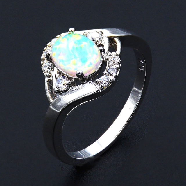 hot white rings sapphire pink opal size cz item black women engagement
