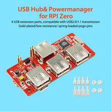 Elcrow raspberry pi zero usb hub powermanager para rpi zero 4 interface de extensão usb kit diy