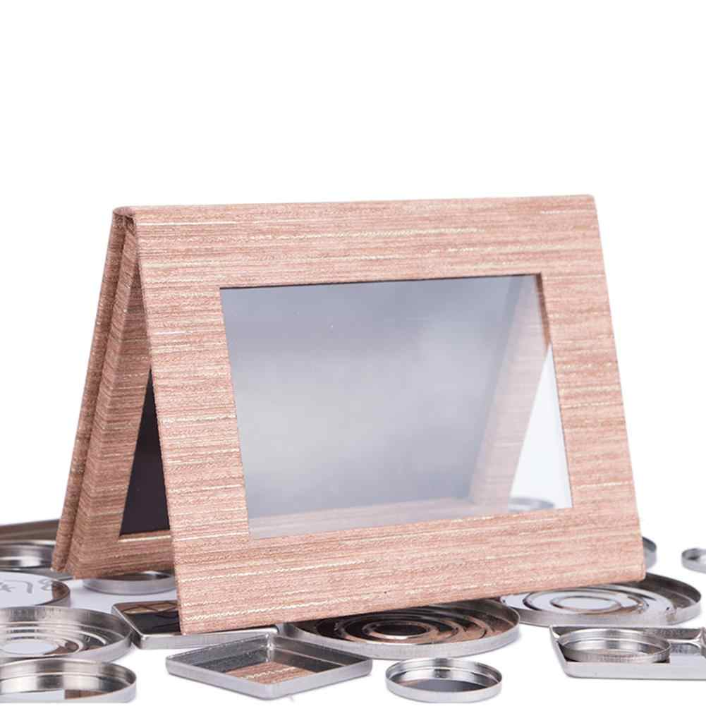 Wooden Graine Empty Eyeshadow Magnetic Palette DIY Foundation Powder Makeup Replaceable Palette Eye Shadow Tray Holder Box Case