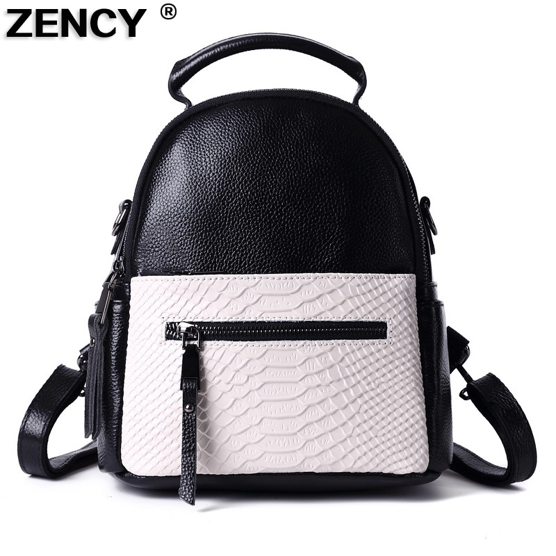 Small Fast Shipping 100% Genuine Real Leather Women's Backpacks Crocodile Alligator Pattern Ladies Cowhide Casual Party Backpack