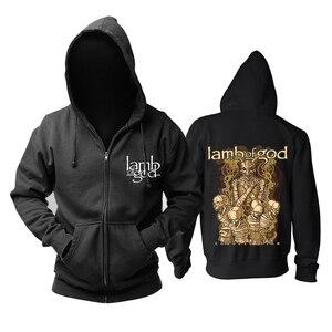 Image 4 - Bloodhoof LAMB OF GOD Death Metal Concert Retro TOP hoodie Asian Size