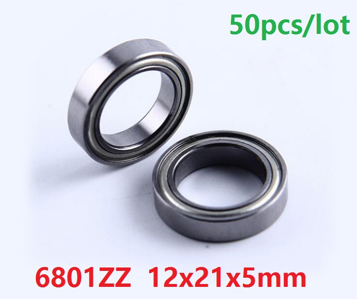 440c Stainless Steel Metal Ball Bearing S6801zz 6801zz 2 PCS 12x21x5 mm