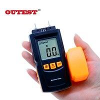Kỹ thuật số LCD Display Độ Ẩm Gỗ Meter Độ Ẩm Tester Gỗ Làm Ẩm Detector gỗ cầm tay moisture meter GM605