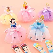3 Pcs Princess Toy Delicate and lovely Hair Pin Cute Kids Cinderella Hair Clips Hair Bows toy for Girls birthday gift(China)