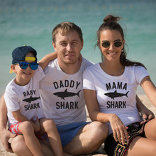 Father Papa Mom Baby Shark Family Matching Clothes For And Me Outfits Clothe Dad Clothing Mother Daughter Look Son