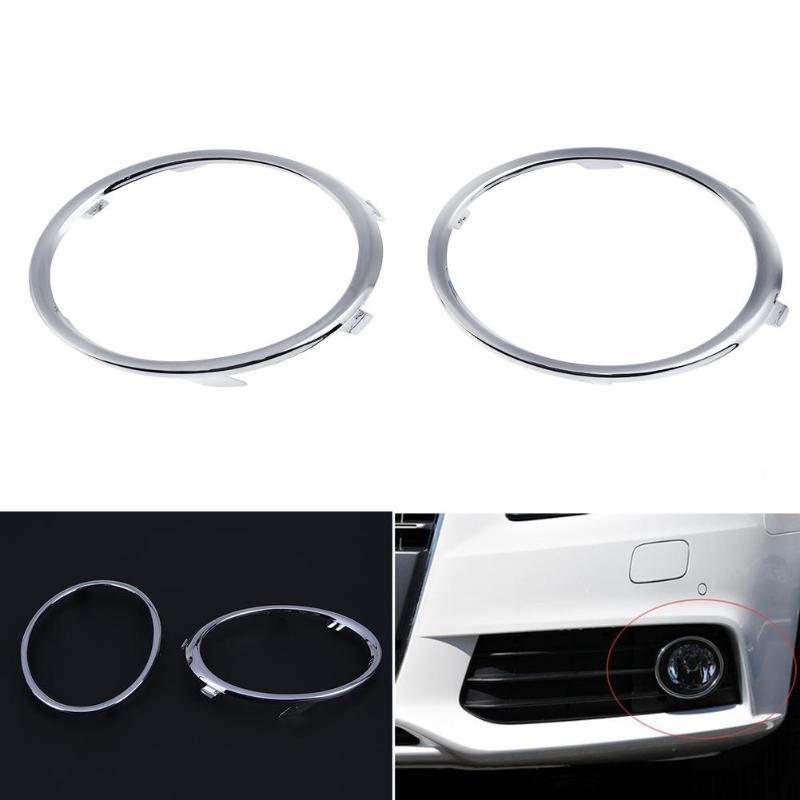 1 çift Galvanik Araba Ön Sis Lambası ayar kapağı Otomobiller Otomatik Sis Lambası Kalıp Yüzükler için Audi A4 B8 09- 12 oto Aksesuar
