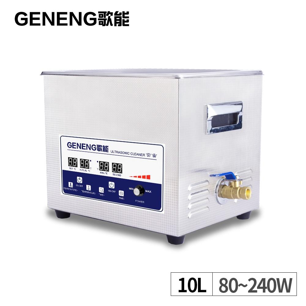10L Ультразвуковой очиститель для ванной мощность регулируемое масло ржавчины обезжиривание лаборатории двигатели для автомобиля блок
