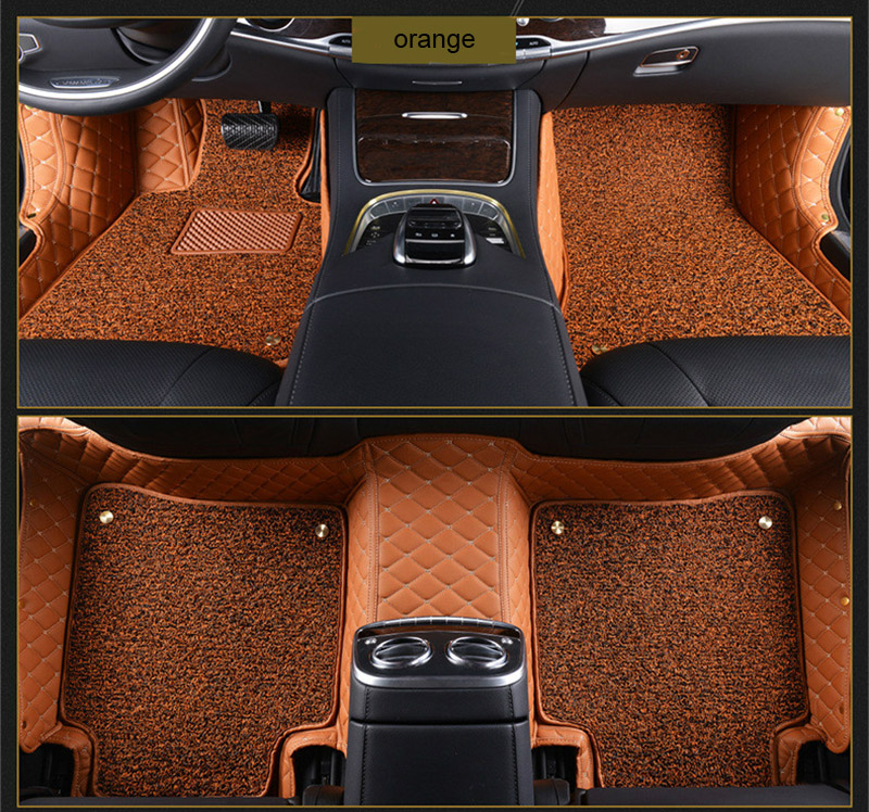 car floor mats for Mitsubishi Pajero ASX Lancer SPORT EX Zinger FORTIS Outlander Grandis Galant car styling Custom foot