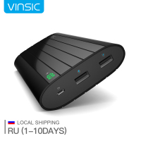Shipping From Russia Vinsic Universal Power Bank 20000mAh External Battery Smart 2 4A USB Charger