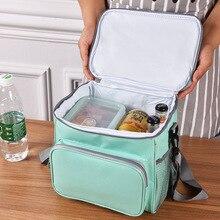 Tote  Food Fresh Keep Lunch Cooler Bag Waterproof Picnic Travel Storage Icepack Thermal Insulated Fashion Bags Bolsa Sac