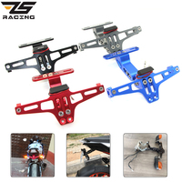ZS Racing Motorcycle Conversion Scooter Moped License Plate Frame Licence Holder Motorcycle Number Plate Holder Box