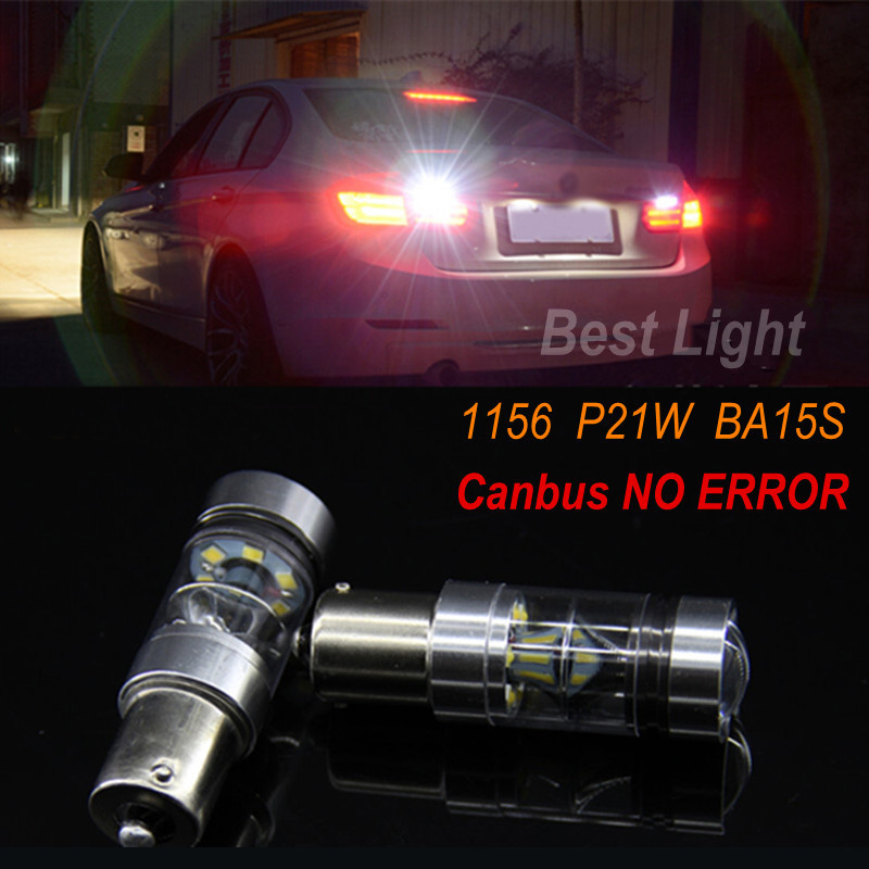 2x For BMW E30 E36 E46 E34 E39 E60 X3 X5 E53 E70 Z3 Z4 1156 P21W BA15S Canbus SHARP Chips LED Bulb Backup Reverse Light