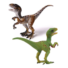 hot deal buy action&toy figures jurassic 2 colors velociraptor  dragon dinosaur pvc toys collection model plastic doll animal for kids gift