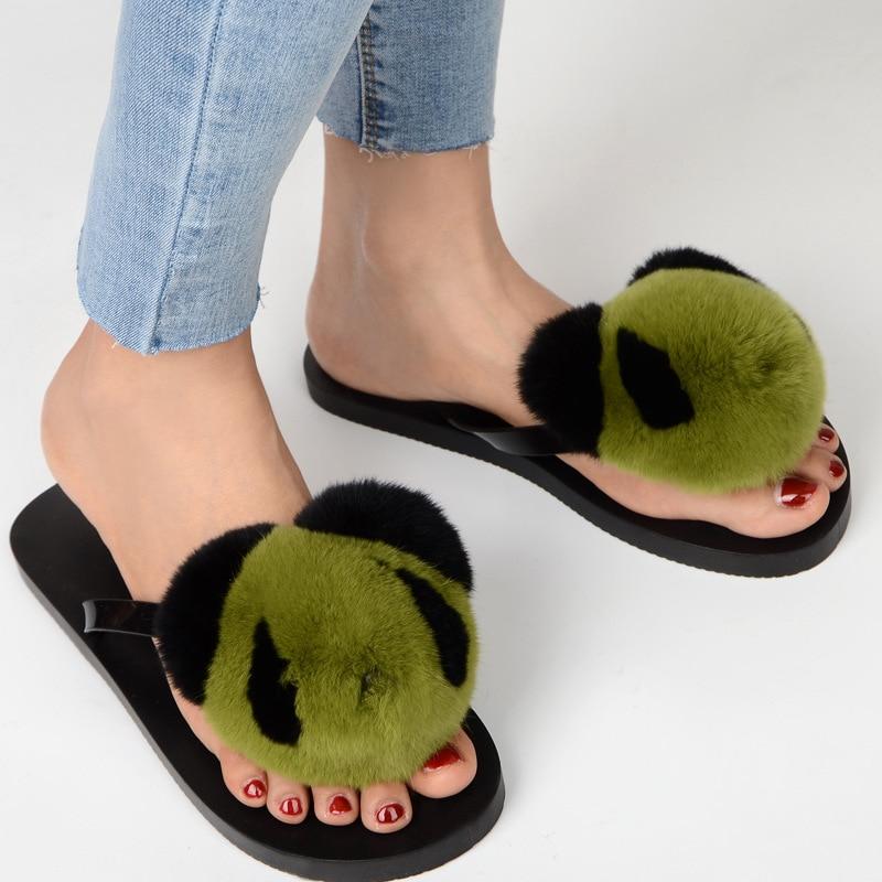 slipper real fur pompom (11)