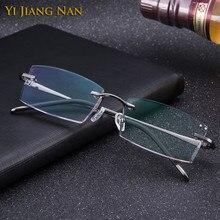 Yi Jiang Nan Brand Diamond Glasses Pure Titanium Men Eyeglasses Colored Lenses Light Weight Eye