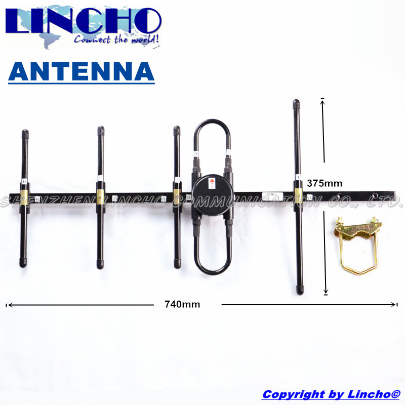 imágenes para CDMA 450 mhz yagi antena direccional al aire libre, 5 elementos yagi antena uhf repetidor, 433 mhz antena yagi
