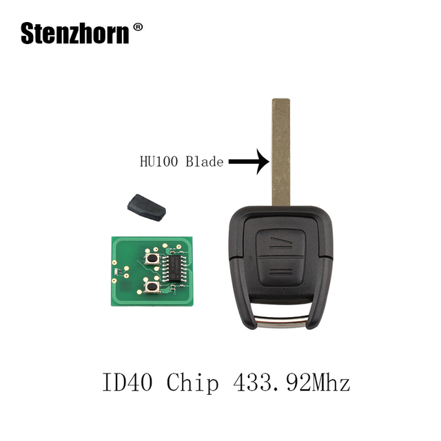 Stenzhorn Remote Key Fob 2 Buttons 433 92mhz New Remote