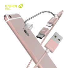 Original Wsken Three to one cable.For IOS,For Micro USB,For Type-c.Universal cable For iphone,xiaomi,samsung.New arrive