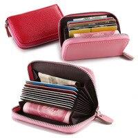 Genuine Leather Zipper Wallets Women Fashion Cartera Portefeuille Femme Ladies Red Wallet Small Billeteras Mujer