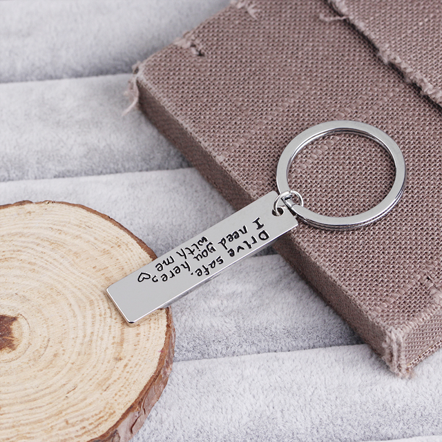 drive safe i need you here with me key chains statement car key ring for lover husband car key finder heart keyrings for driver