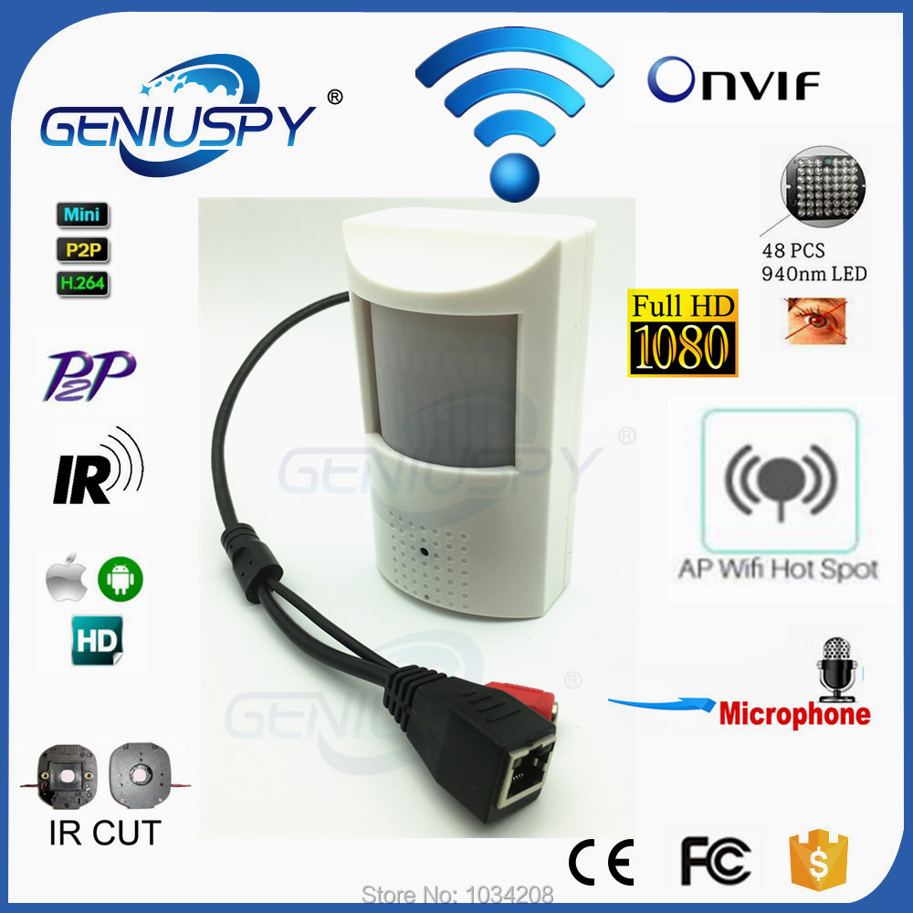 1080P Pinhole 940nm IR Wifi IP Camera HD PIR STYLe Wired Wifi Wireless IP Camera 2.0MP Security Microphone P2P Onvif Phone View