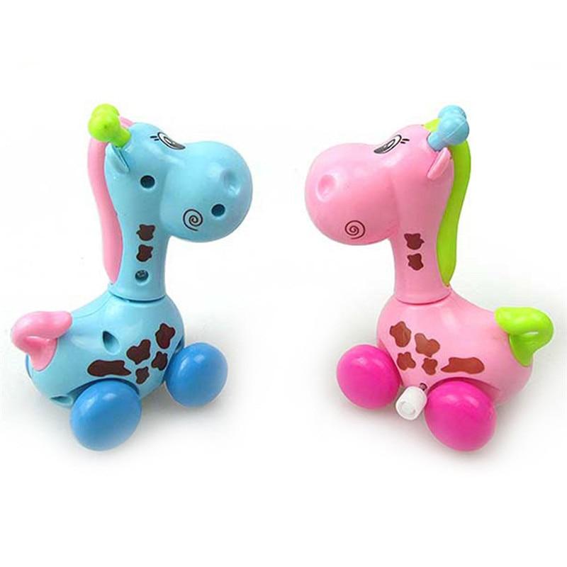 Cute Cartoon Animal Giraffe Clockwork Wind Up Baby Toys Running Head Tail Swing Classic born Toy Children Gift Spring Toy