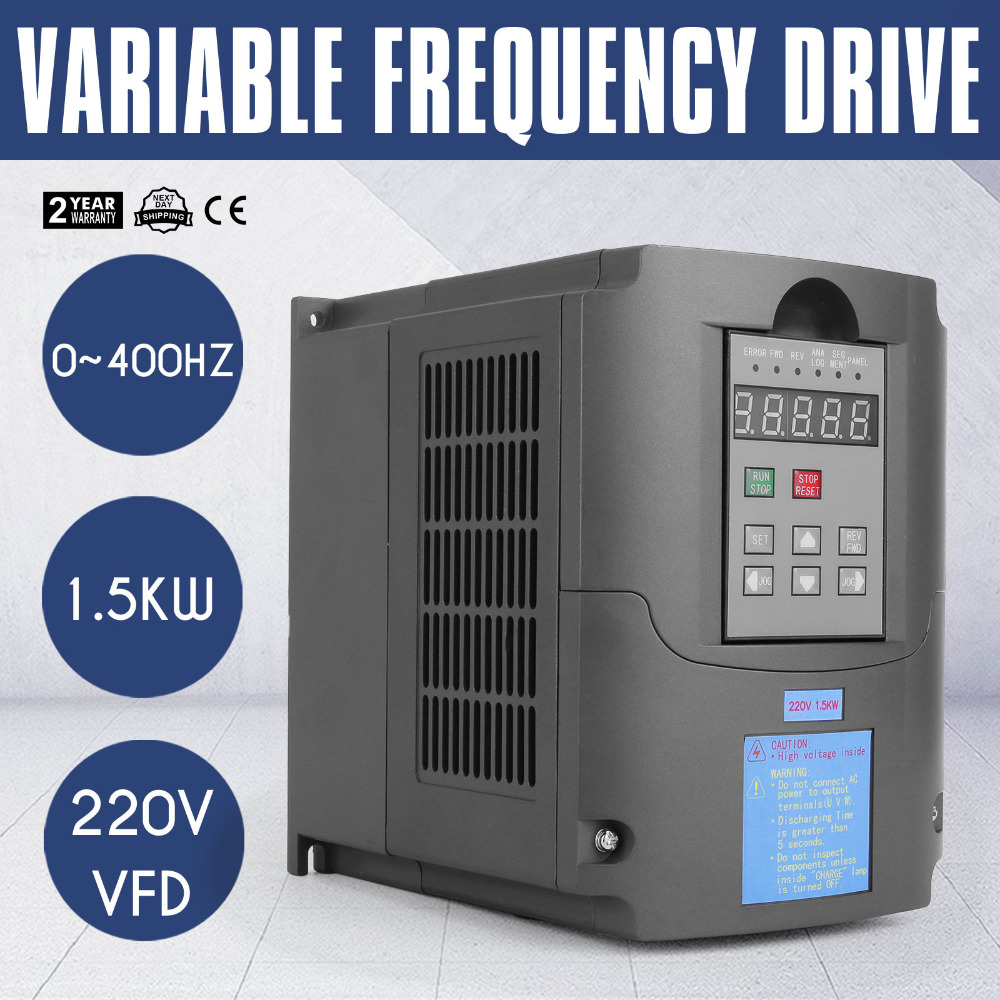 цена на 220V 1.5KW VFD 3HP 10A Variable Frequency Driver VFD Inverter for Spindle Motor