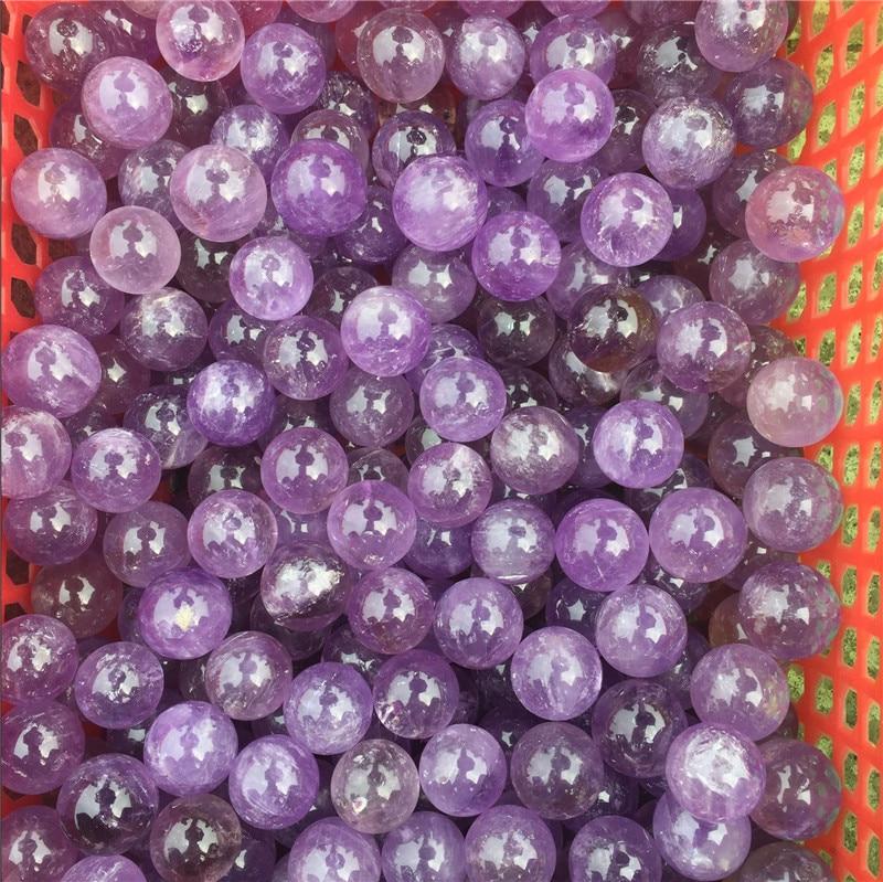 1pcs 2cm 100% natural purple amethyst quartz crystal ball reiki healing energy amethyst gemstone sphere as gift or home decor