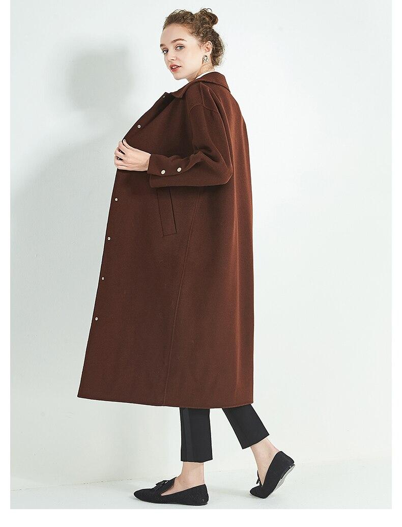 Épaissir Haute Nouveau Survêtement De Hiver Manteau Mince Laine 2018 Mode Longue Qualité Femmes 100Automne Solide g7ybf6