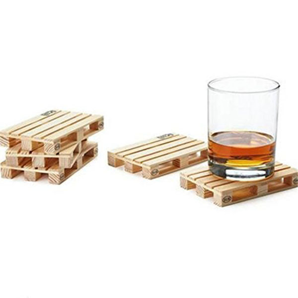4pcs Mini Wood Pallet Cup Mat Coasters Drink Coasters Home Decor Bar Coffee Wine Tea Bar  sc 1 st  AliExpress.com & 4pcs Mini Wood Pallet Cup Mat Coasters Drink Coasters Home Decor Bar ...