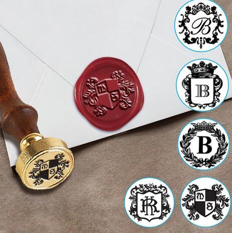 personalized regal initials custom wax seal stamp kit gift boxed