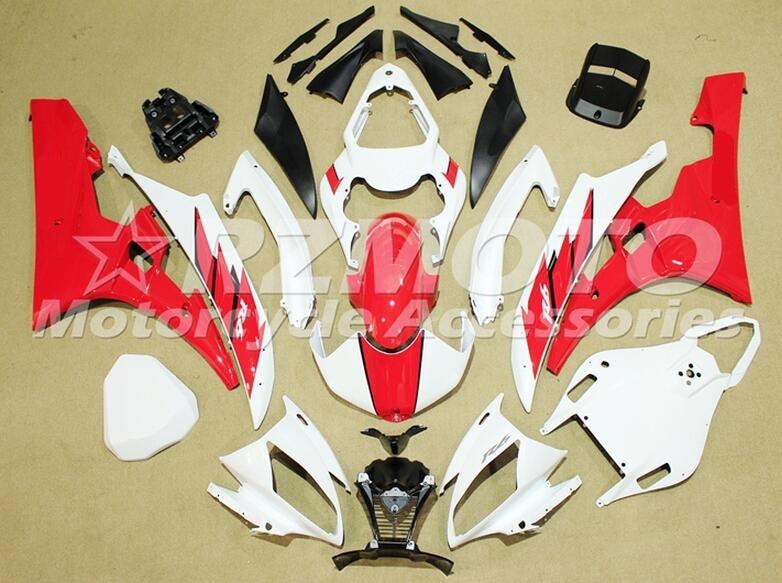3 מתנות חדש ערכת מעטפת Fit עבור ימאהה YZF 600 R6 06 07 YZF-R6 2006 2007 ABS פלסטיק אופנוע Fairing מותאם אישית לבן אדום נחמד